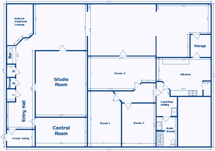 Layout Of Studio Facility For Sale Or Lease